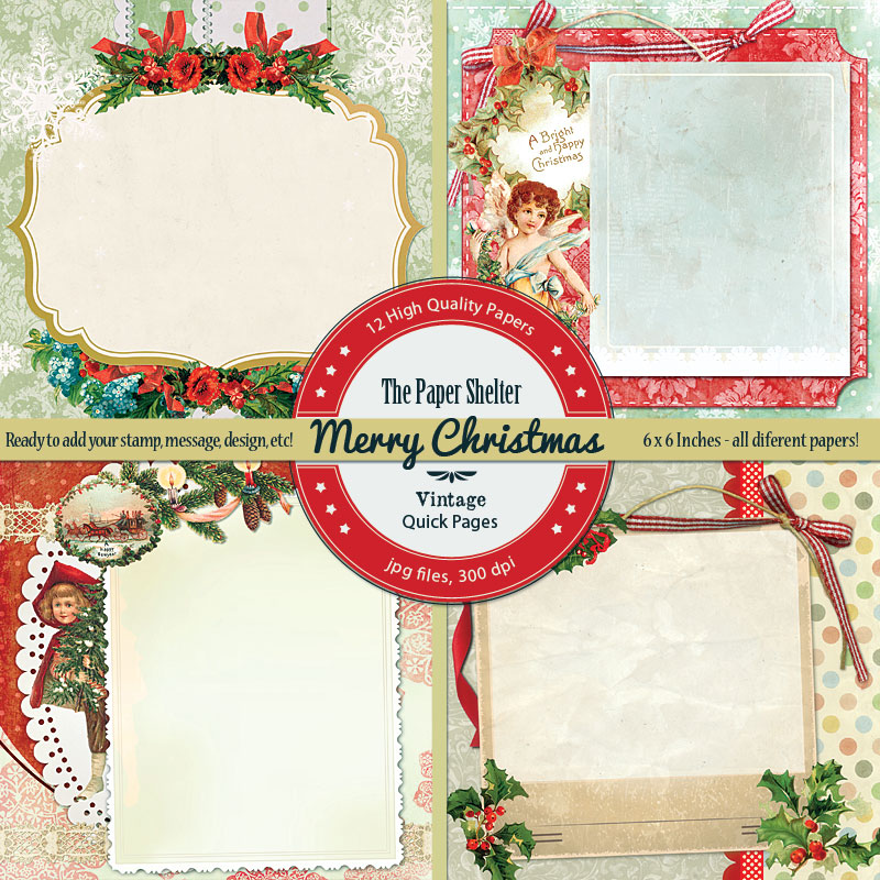 Merry Christmas Vintage Quick Pages