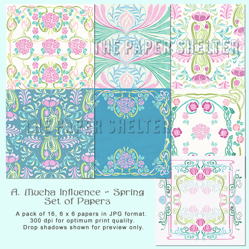 "A. Mucha Influence - Spring - ""Paper Pack"""