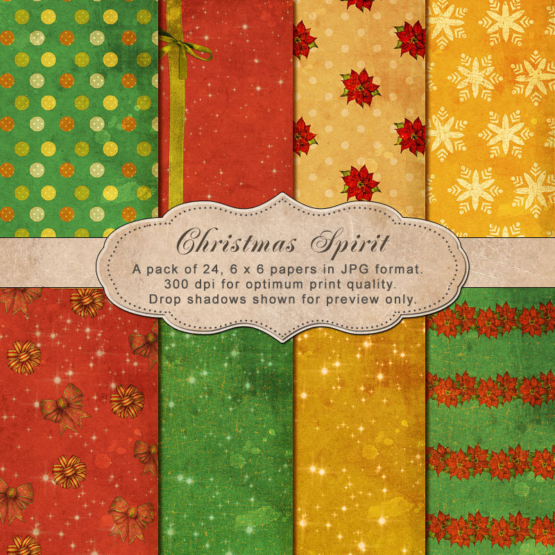 "Christmas Spirit -""Paper Pack"""