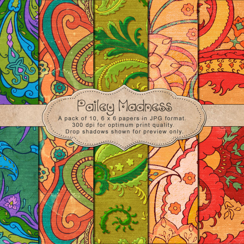 "Paisley Madness - ""Paper Pack"""