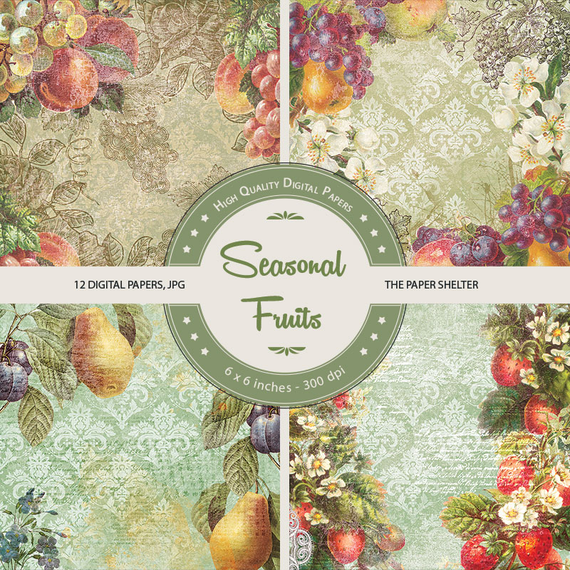 Seasonal Fruits - Paper Pack