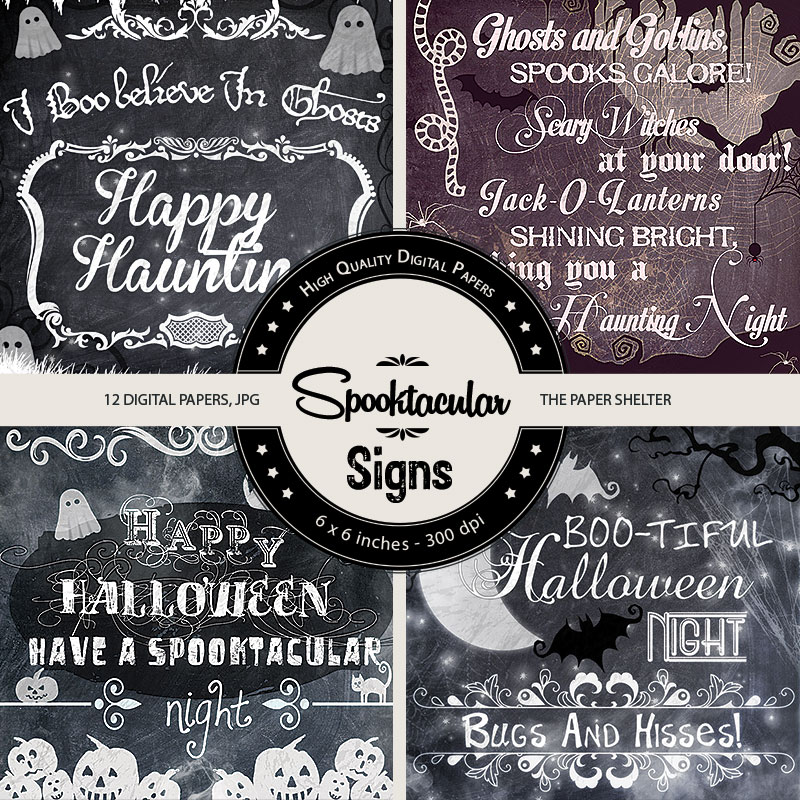 Spooktacular Signs - Paper Pack