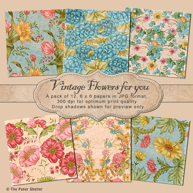 Vintage Flower for you - Paper Pack