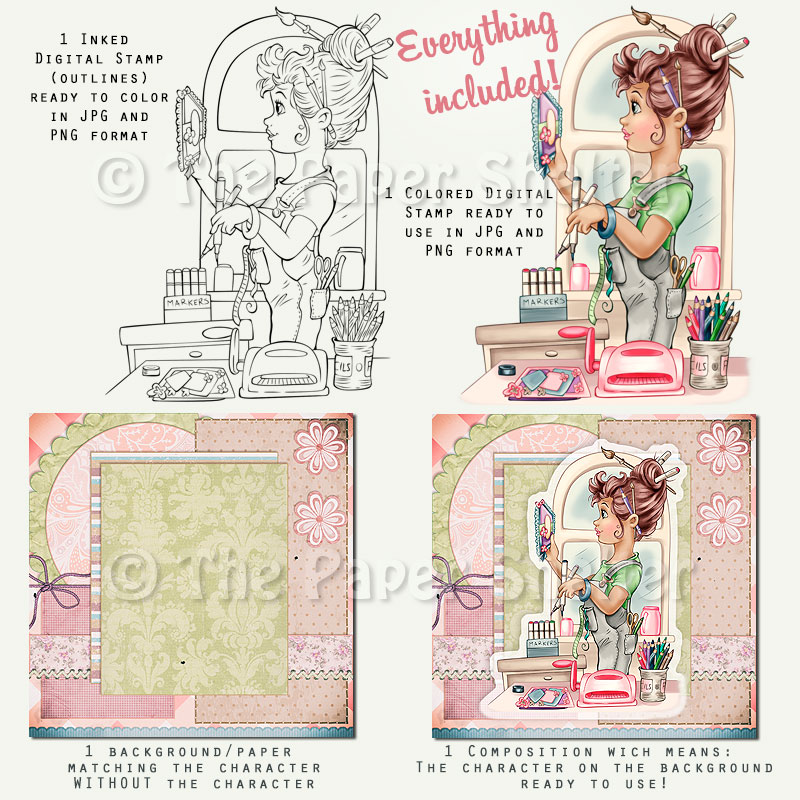 A Papercraft Fun - Digital Stamp