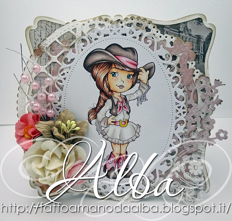 Adorable Cowgirl - Digital Stamp