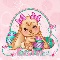 The Most Adorable Easter Bunny - Digital Stamp