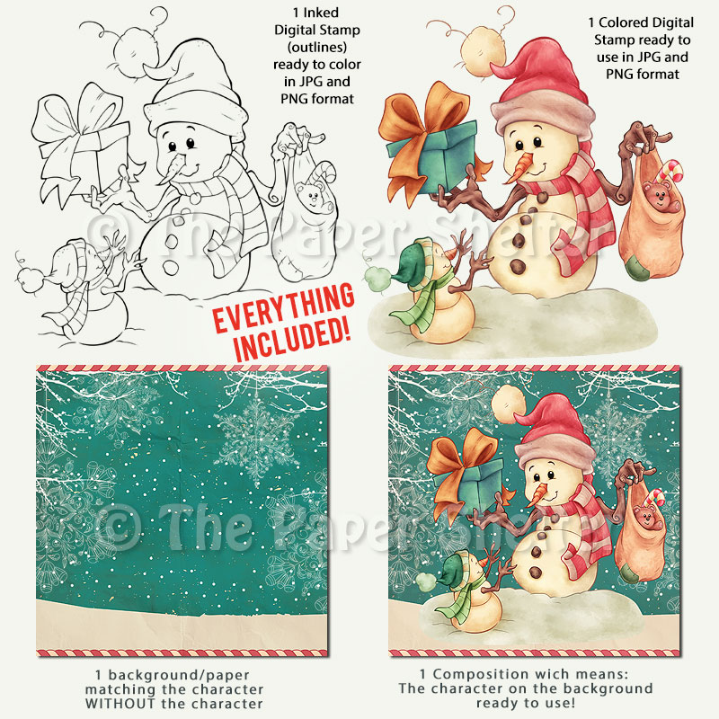 The Most Adorable Snowmen - Digital Stamp