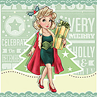 Christmas Shopping - Digital Stamp