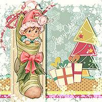 Christmas Stocking - Digital Stamp