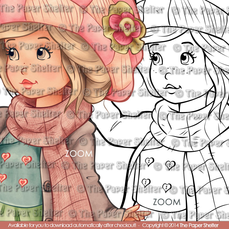 Cozy Winter Wishes - Digital Stamp