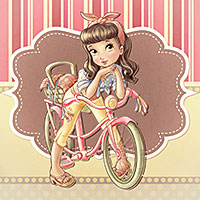 Cute Bike - Digital Stamp