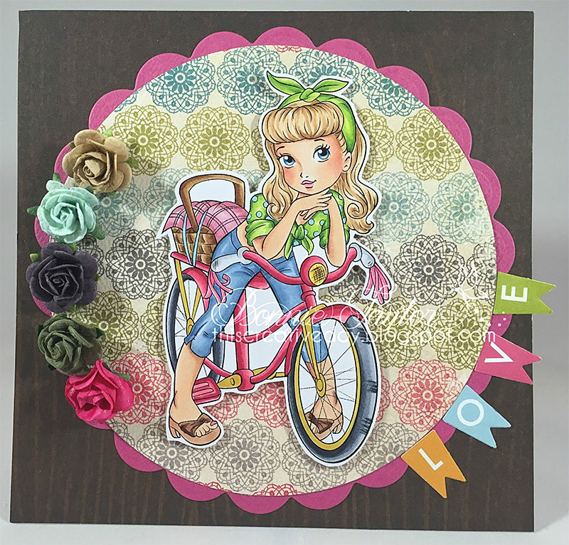 Cute Bike - Digital Stamp - Click Image to Close