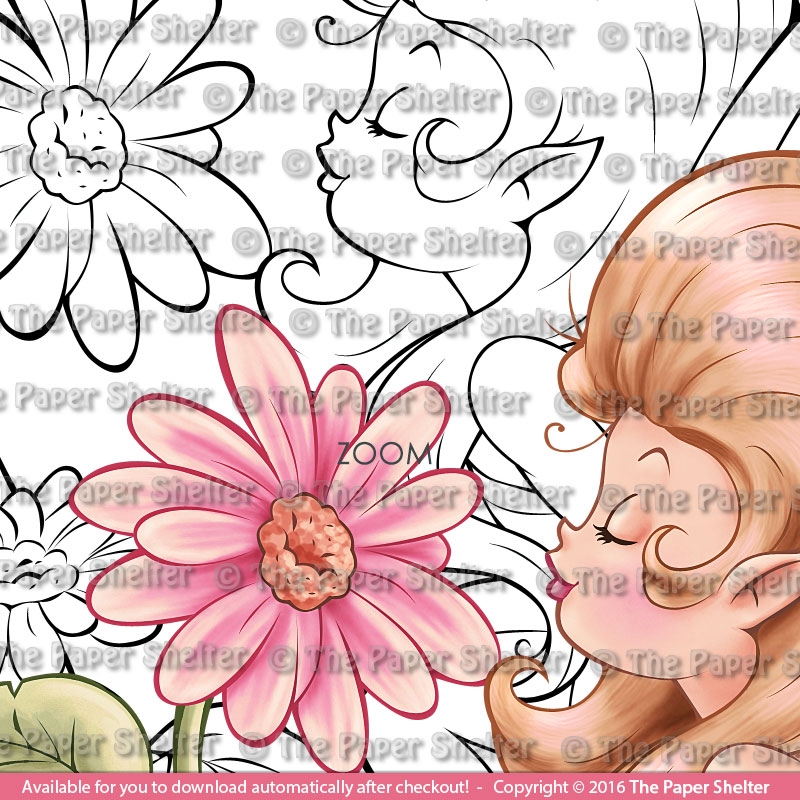 Daisies in Paradise - Digital Stamp