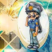 Police Officer - Female Version - Digital Stamp