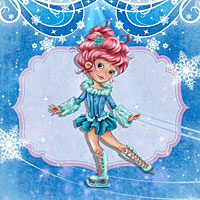 Fantasy on Ice - Digital Stamp