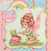 Follow me on FairyBook - Digital Stamp
