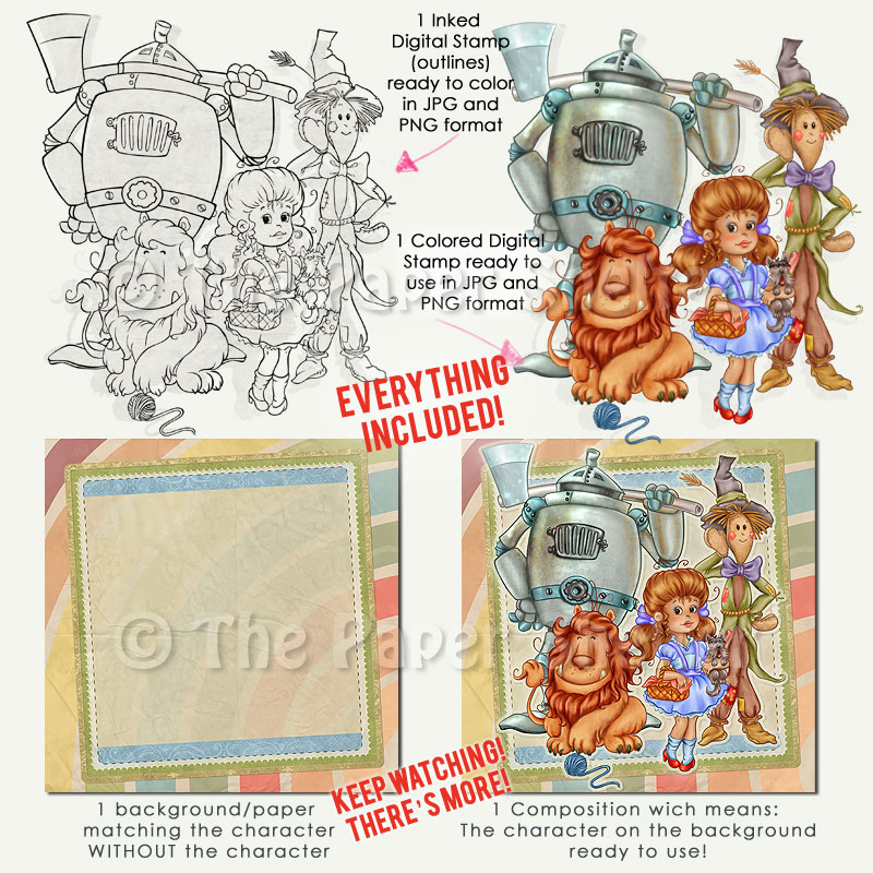Friends over the Rainbow - Mega Pack! - Digital Stamp