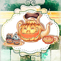 Halloween Tea - Digital Stamp