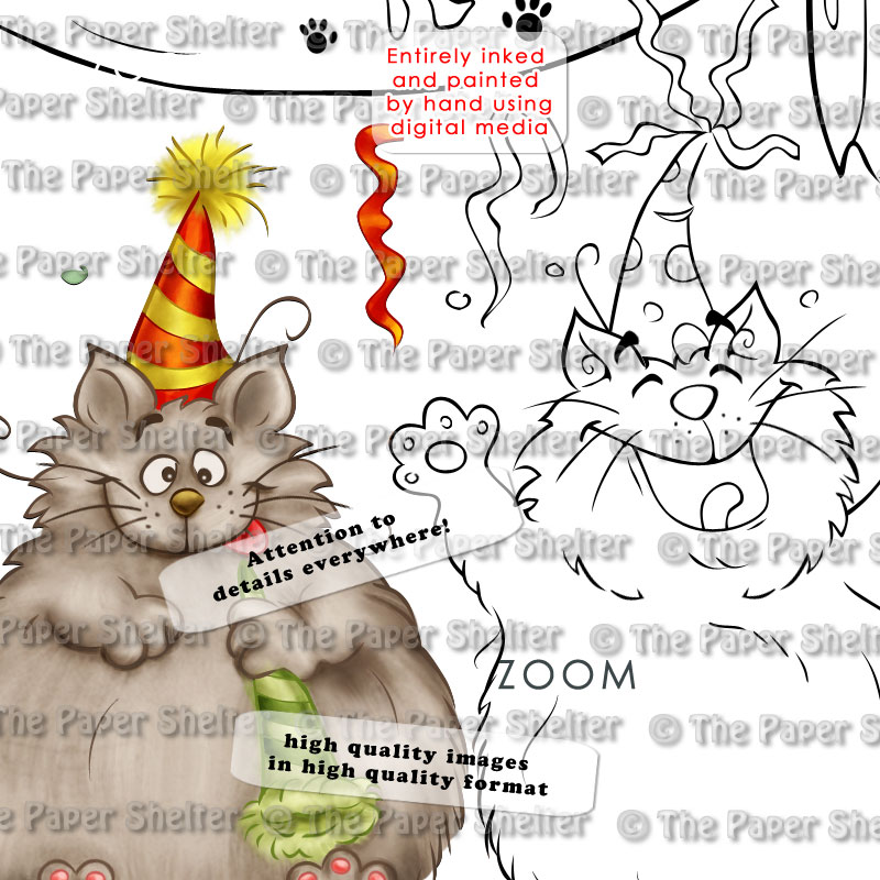 Happy Meow Year - Digital Stamp