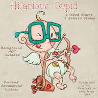 Hilarious Cupid - Digital Stamp