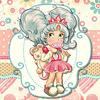 Lollipop Princess - Digital Stamp