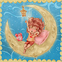Lullaby Moon - Digital Stamp