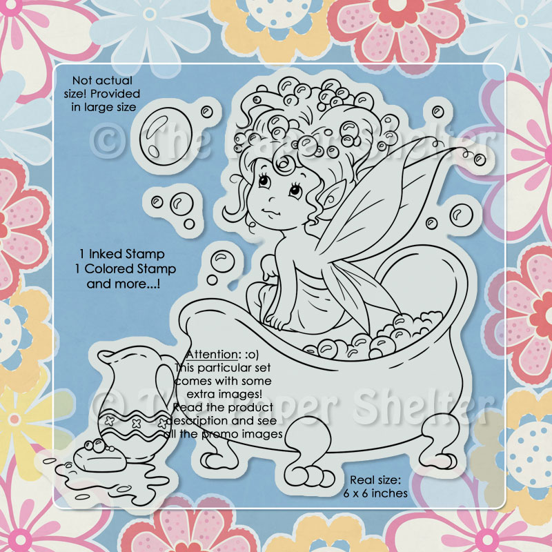 Magic Bubble Bath - Digital Stamp
