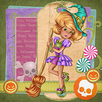 Miss Halloween - Digital Stamp