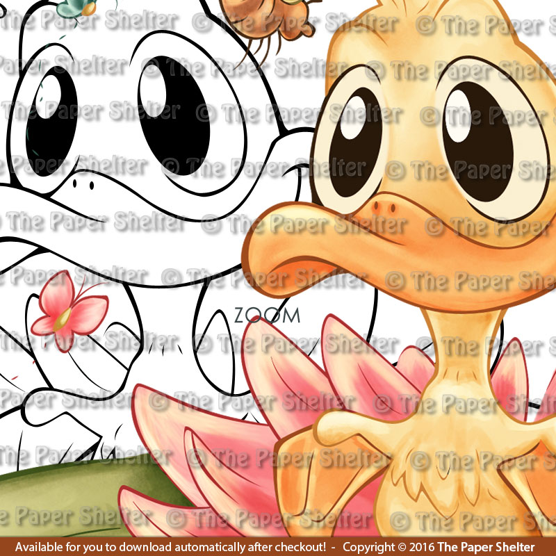 The Most Adorable Ducky - Digital Stamp