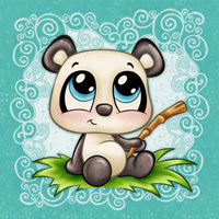 The Most Adorable Panda - Digital Stamp