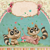 The Most Adorable Raccoons - Digital Stamp