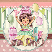 Happy Birthday - Digital Stamp
