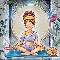 Namaste - Digital Stamp