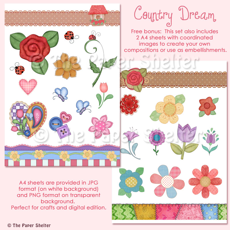 "Country Dream - ""Paper Pack"" and Accesorie Sheet"