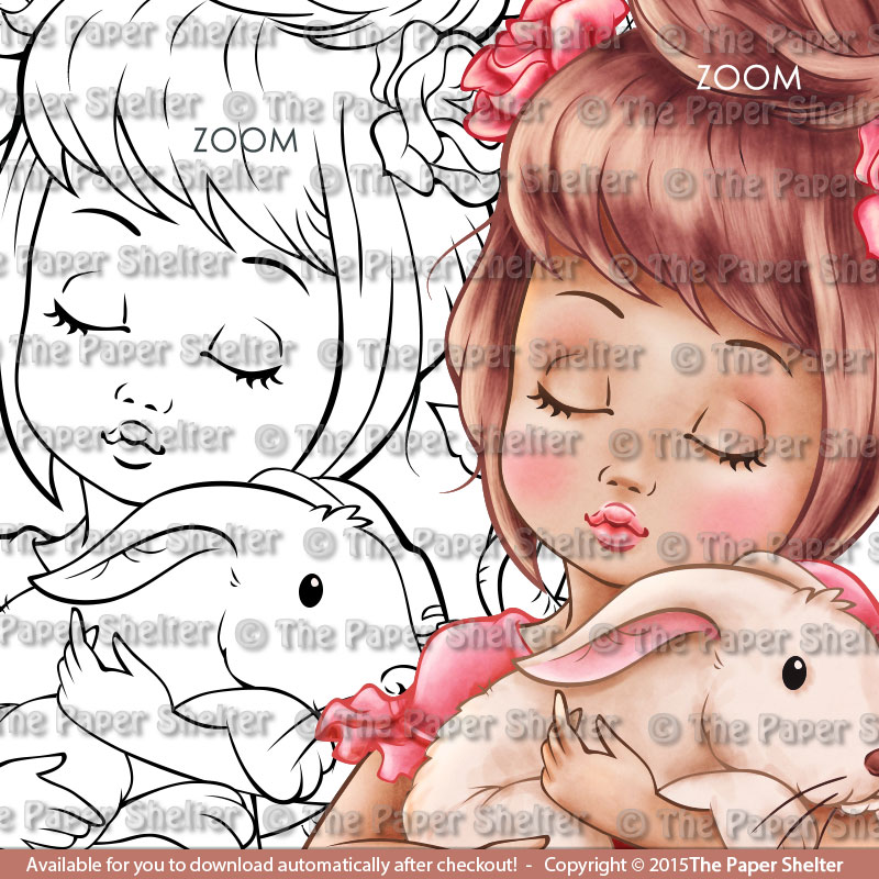 Peaceful Easter - Digital Stamp
