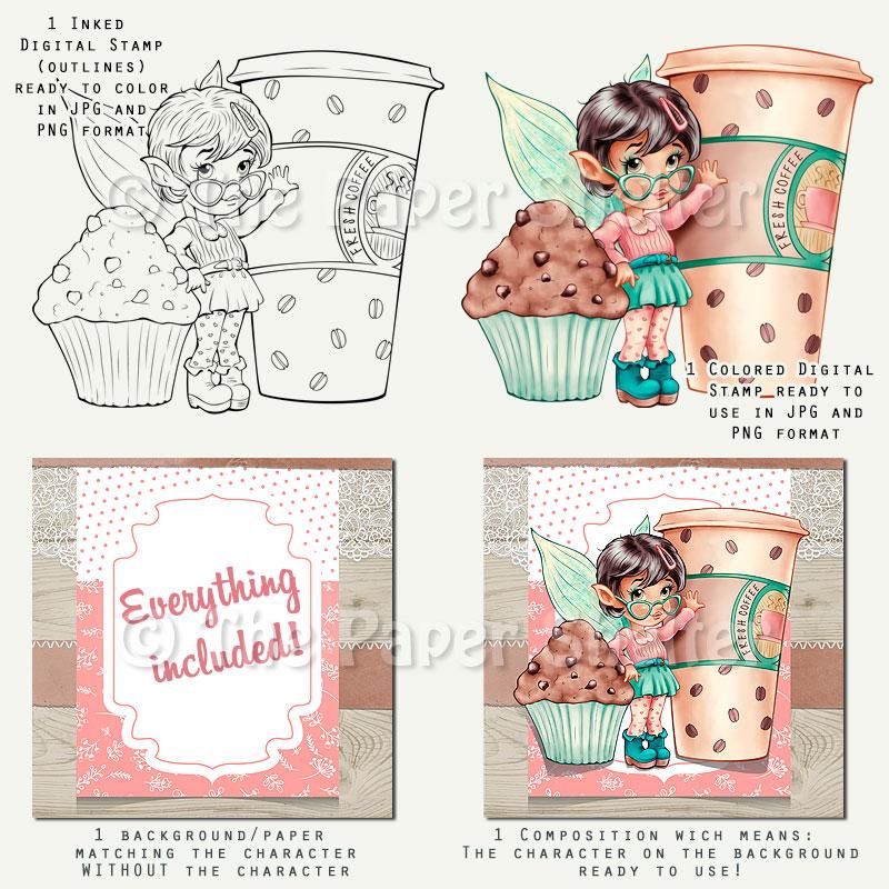 Pixie Caramel Macchiato - Digital Stamp