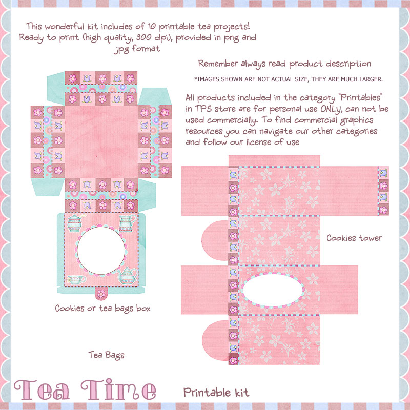 "Tea Time - ""Printable Kit"""