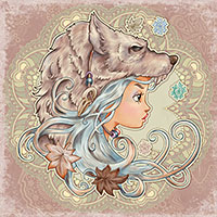 She Wolf - Digital Stamp