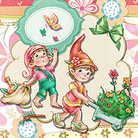 Spring Elves - DIgital Stamp