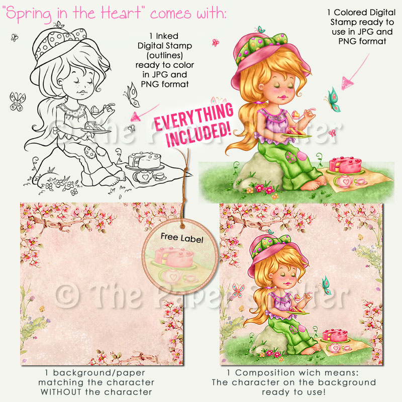 Spring in the Heart - Digital Stamp