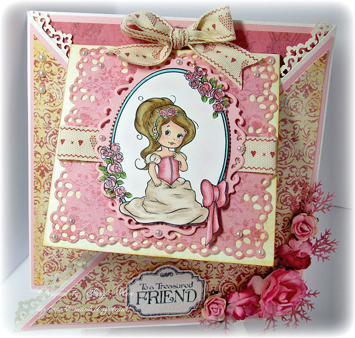 spring princess digital stamp the paper shelter  digital