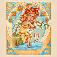 A. Mucha Influence - Summer - Digital Stamp