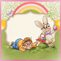 Easter Mischief - Digital Stamp