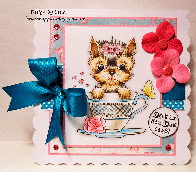 Teacup Yorkie - Digital Stamp