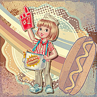The Number One Hot Dog - Digital Stamp
