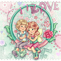 True Love - Digital Stamp