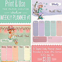 Weekly Planner 01 - Printable Kit