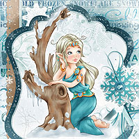 Winter Goddess - Digital Stamp