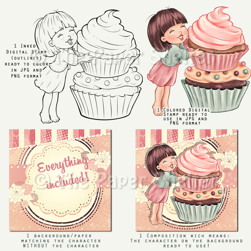 You're My Cuppy Cake - Digital Stamp