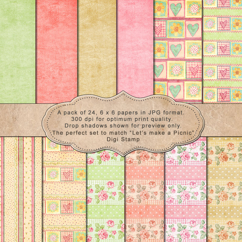 "Let's make a Pic-nic! -""Paper Pack"" - Click Image to Close"